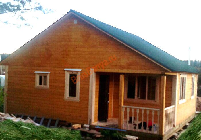 """Построили одноэтажный дом из бруса 8 на 8 """"Боровик"""", Тосненский район"""