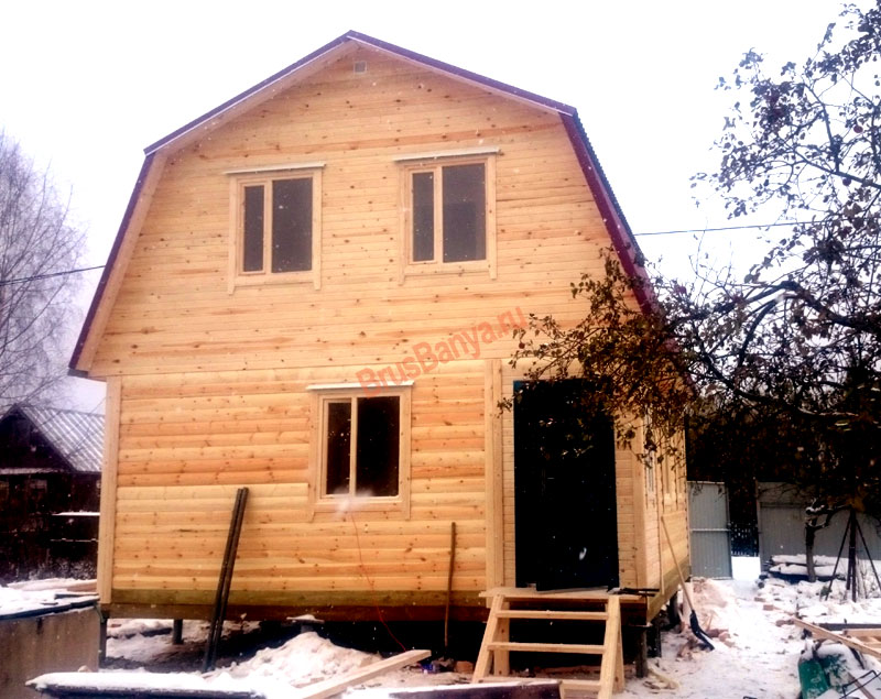 строительство брусового дома 6х6 в г.Череповец