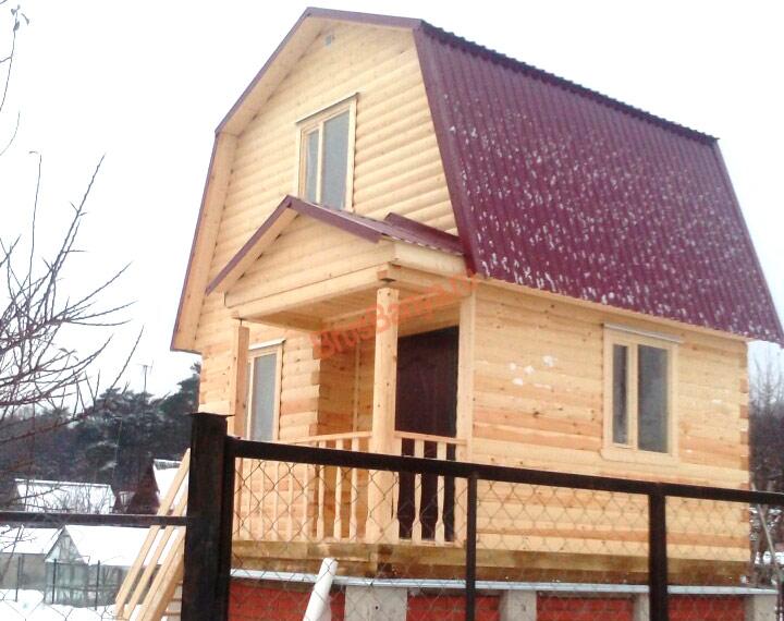 Построен брусовой дом 4 х 5, по проекту №3 в д.Протвино, Московская обл