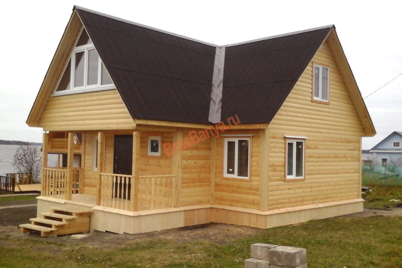 Завершено строительство дома из бруса 9х9 по проекту №39
