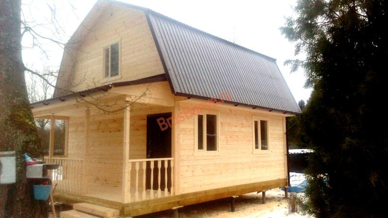 Построен дом из бруса по проекту №18