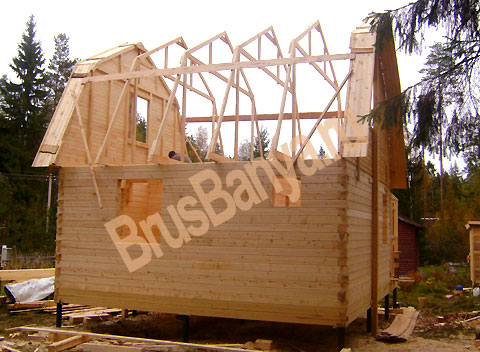 Как построить дом из бруса недорого своими руками