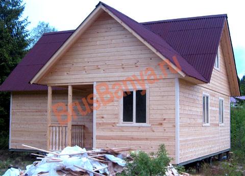 Завершено строительство дома из бруса 6 на 9 в Выборгском районе