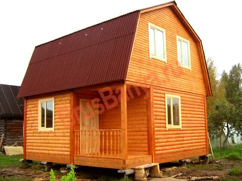 Построили новый дом из бруса в д.Мяглово