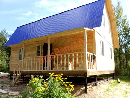 Построили брусовой дом с 6х9 террасой в Можайске