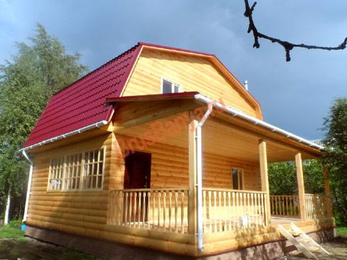 Завершено строительство дома из бруса 6 на 6 с террасой