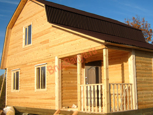 В Выбоге построен дом из бруса 7х9 по проекту №36