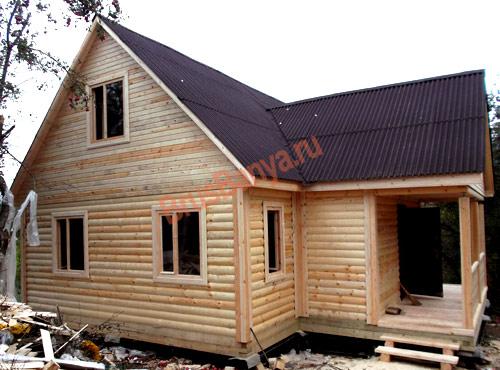 Завершили строительство дома 6х9 в лужском районе, по проекту №39