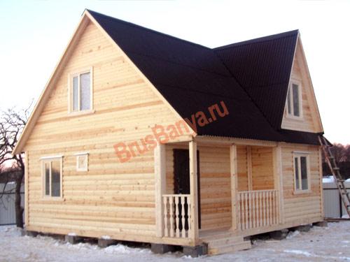 Построен дом из бруса 7х7 в Брянске