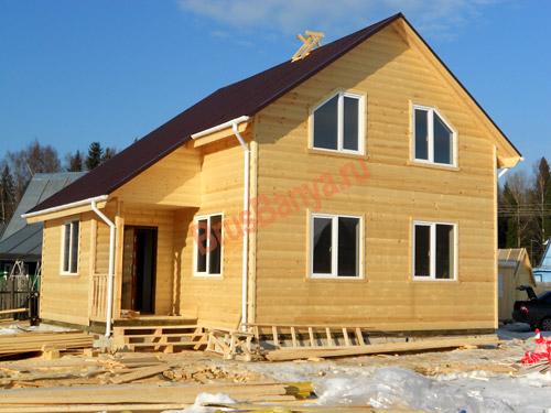 Завершили строительство каркасного дома в полтора этажа 8х9 в Череповце