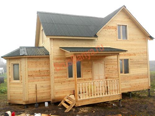 Построен большой дом из бруса 8х10