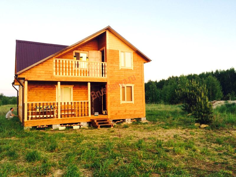 Построили отличный загородный дом из бруса 6х8 по проекту №51 в г. Ярославль